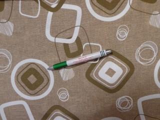 Loneta, drapp alapon keki-fehér mintás kerti bútor vászon (11702)