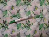 Elasztikus selyem anyag, virágos (11712)