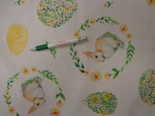 Loneta, húsvéti, nyuszis-tojásos, kerti bútor vászon (11794)