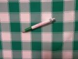 Kockás minimatt szövet, zöld-fehér (11832)