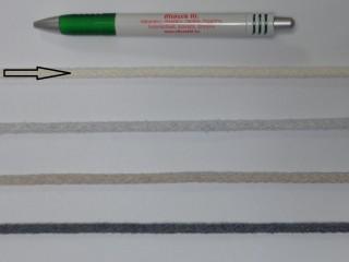 Szőtt, fonatolt pamut zsinór, nyers, 5 mm-es (11834)