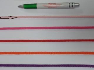 Szőtt, fonatolt pamut zsinór, rózsaszín, 5 mm-es (11842)