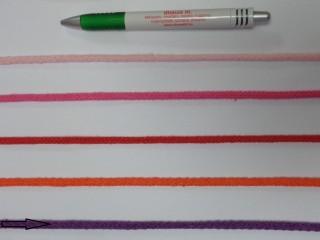 Szőtt, fonatolt pamut zsinór, lila, 5 mm-es (11844)