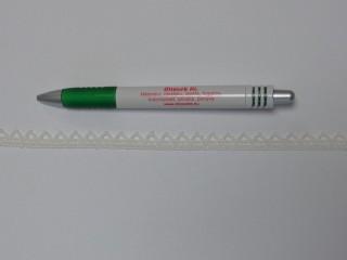 Pamut csipke, ekrü, 10 mm széles (11873)
