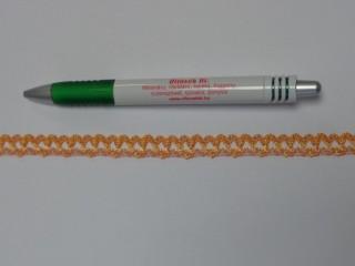 Pamut csipke, narancs, 10 mm széles (11879)