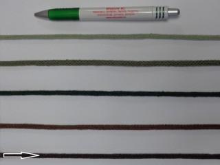Szőtt, fonatolt pamut zsinór, mélybarna, 5 mm-es (11885)