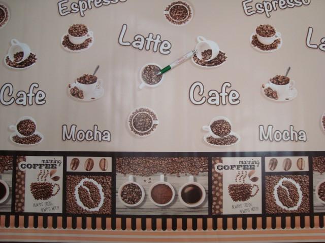 Viaszos vászon, kávécsészés, bordűrös (11949)