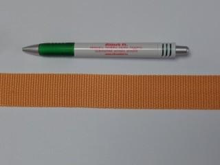 3 cm széles heveder, világos narancs (11973)