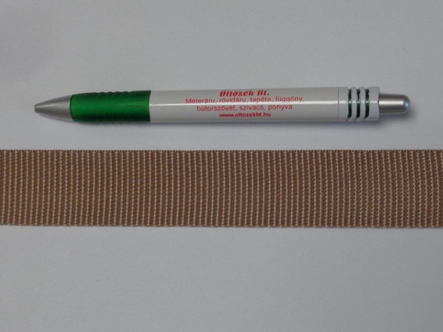 3 cm széles heveder, sötét drapp (11977)