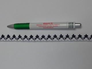 Pamut csipke, sötétkék-fehér, 12 mm széles (11981)