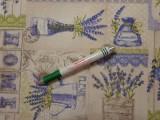 Loneta, levendulás, világos drapp alapon, kerti bútor vászon (12019)