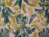 Loneta, sötétzöld-olivazöld leveles, kerti bútor vászon (12075)