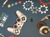Gyerekmintás pamutvászon, play-game (12144)