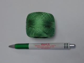 Fényes horgolócérna, világos zöld (12163)