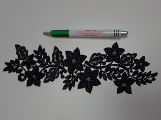 Páratlan csipke, fekete (12196)