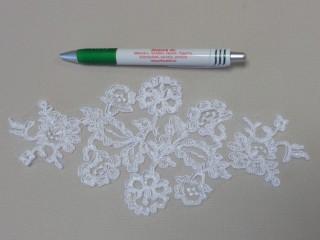 Páratlan csipke, fehér, 23 cm (12199)