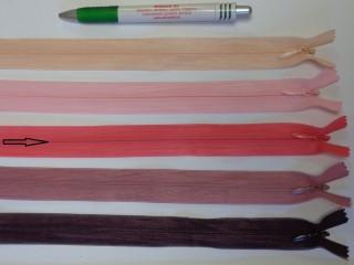 Rejtett cipzár, 25 cm-es, pink (12230)