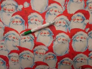 Loneta, karácsonyi vászon, mikulás mintás (12353)
