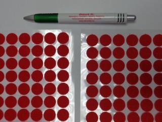 Folt tépőzár, piros, 15 mm-es (12411)