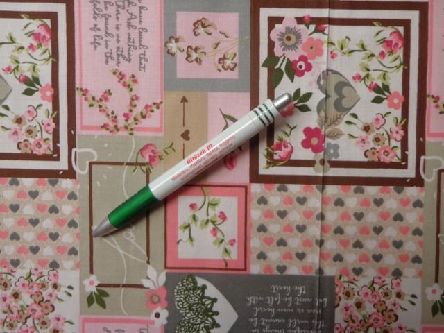 Mintás pamutvászon, rózsaszín-szürke patchwork mintás (12504)