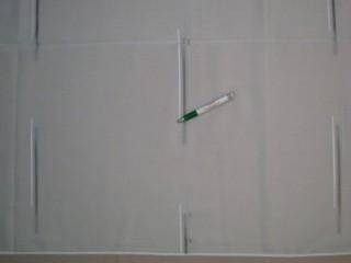 Fehér alapon szürke és fehér csíkozású  fényáteresztő függöny, 180 cm magas (7328-4)