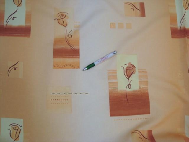 Teflonos asztalterítő anyag, rózsás, narancsos színekben (6047-5)
