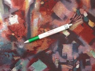 Őszi, mintás jersey, barnás-lilás mintás (12595)