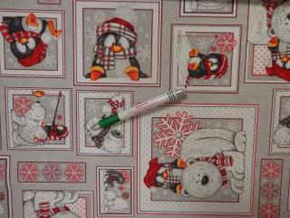 Loneta, pingvin-jegesmedve mintás kerti bútor vászon (12604)