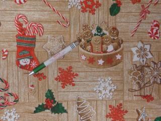 Loneta, mézi mintás kerti bútor vászon (12605)