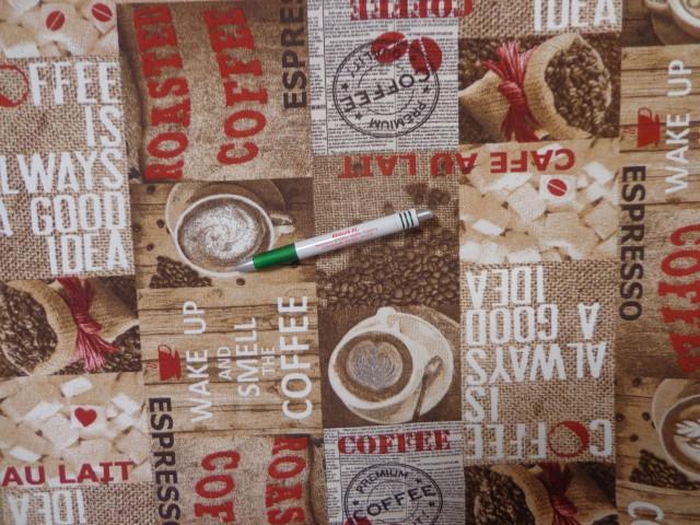 Loneta, kávés, barna-piros-fehér, kerti bútor vászon (12608)