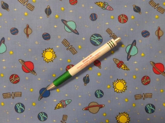 Gyerekmintás pamutvászon, bolygós-űrhajós (12636)