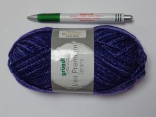 Lisa Premium Jeans, Gründl kötőfonal, lila (12642-02)