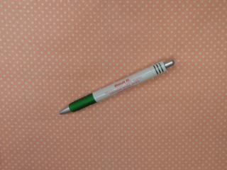 Mintás pamutvászon, barack alapon fehér pöttyös (12680)