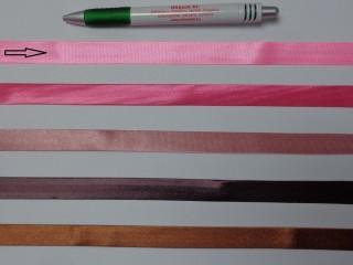 Szatén ferdepánt, 1,5 cm széles, rózsaszín (12699)