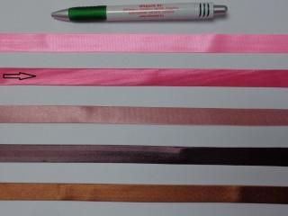 Szatén ferdepánt, 1,5 cm széles, pink (12700)