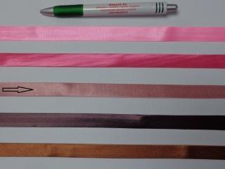Szatén ferdepánt, 1,5 cm széles, világos mályva (12701)