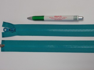 75 cm hosszú GT-10-es (P-6) vastag fogú zipzár, sötét türkiz zöld (12720)