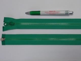75 cm hosszú GT-10-es (P-6) vastag fogú zipzár, zöld (12721)