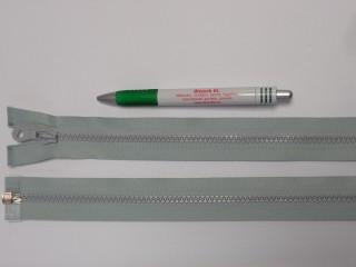 75 cm hosszú GT-10-es (P-6) vastag fogú zipzár, világos szürke (12725)