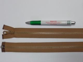 75 cm hosszú GT-10-es (P-6) vastag fogú zipzár, tejeskávé (12726)