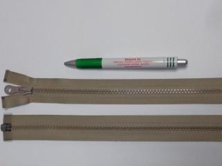 75 cm hosszú GT-10-es (P-6) vastag fogú zipzár, sötét drapp (12727)