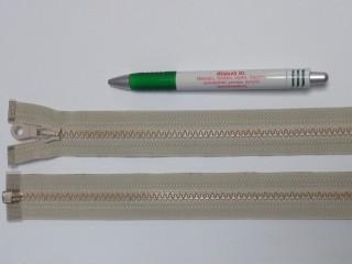 75 cm hosszú GT-10-es (P-6) vastag fogú zipzár, mogyoró (12728)